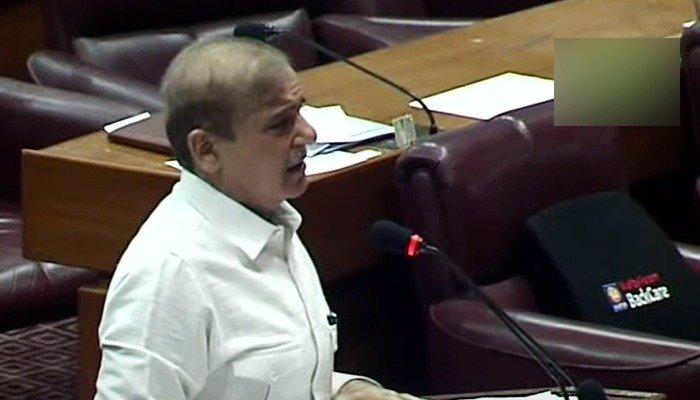 Shahbaz Sharif slams govt during NA speech says Budget is Fake